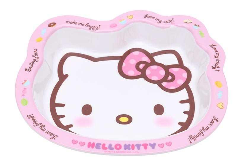 Bộ đôi bát đĩa ăn nhựa Melamine Ware cho bé Lock&lock Hello Kitty LKT468S2