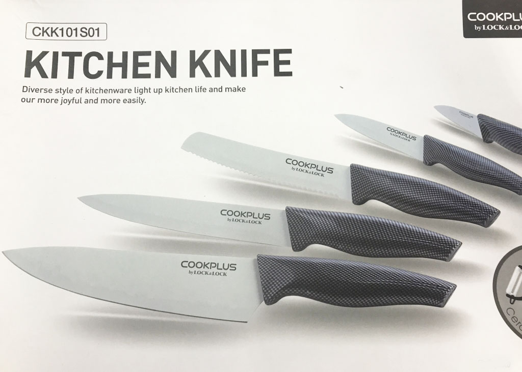 Bộ 5 dao phủ sứ Lock&lock Cookplus CKK101S01 (Tặng dụng cụ gọt củ quả)