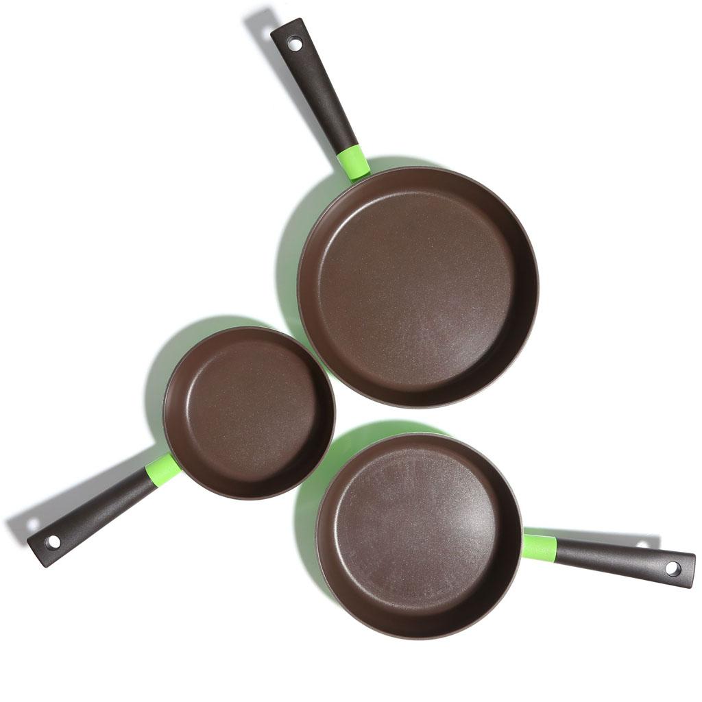 Chảo rán chống dính Cookware F2C Lock&lock 20cm đáy từ xanh lá
