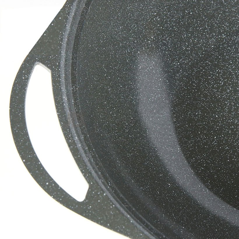 Chảo vân đá sâu lòng 32cm vung kính Lock&lock Stone LCA6325 dùng bếp từ