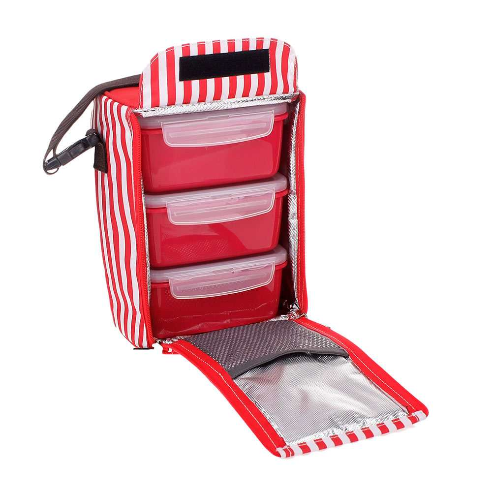 Bộ 3 hộp đựng cơm và túi giữ nhiệt Lock&Lock 630ml