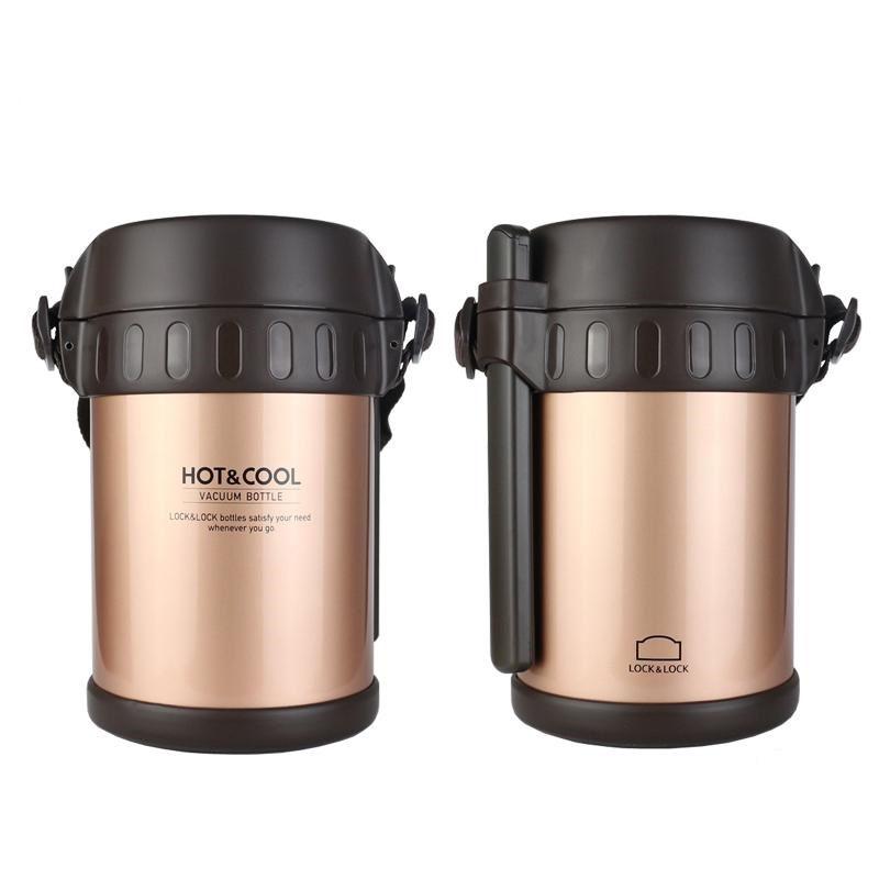 Bộ hộp cơm giữ nhiệt Inox 304 kèm đũa Vacuum Lunch Lock&Lock LHC6170FU