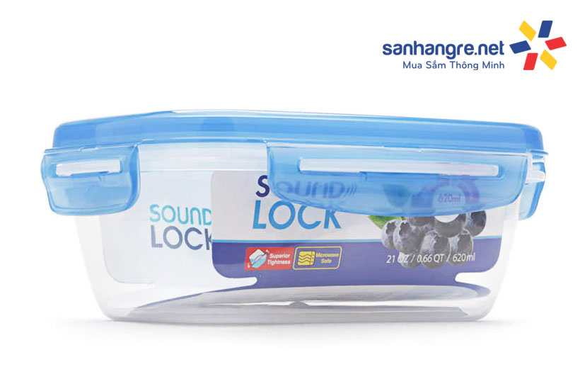 Hộp nhựa bảo quản thực phầm Sound Lock Lock&lock LEP531 620ml