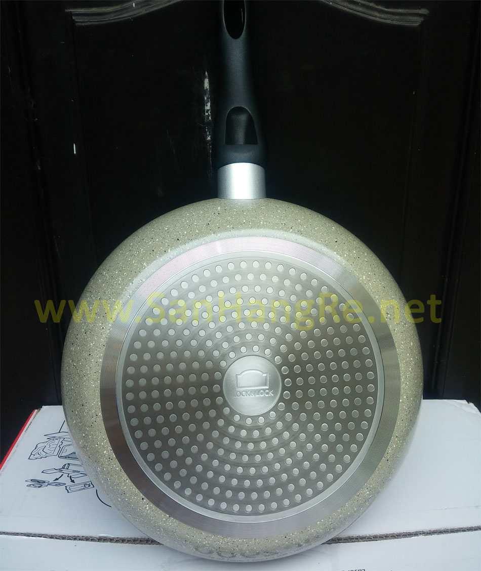 Chảo chống dính vân đá đáy từ Hard&Light Marble LockLock LHB9263IH 26cm