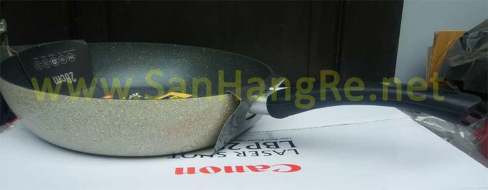 Chảo chống dính vân đá đáy từ Hard&Light Marble LockLock LHB9283IH 28cm