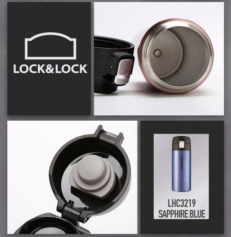 Bình giữ nhiệt Feather Light Tumbler Lock&lock 400ml LHC3219GPK màu vàng hồng