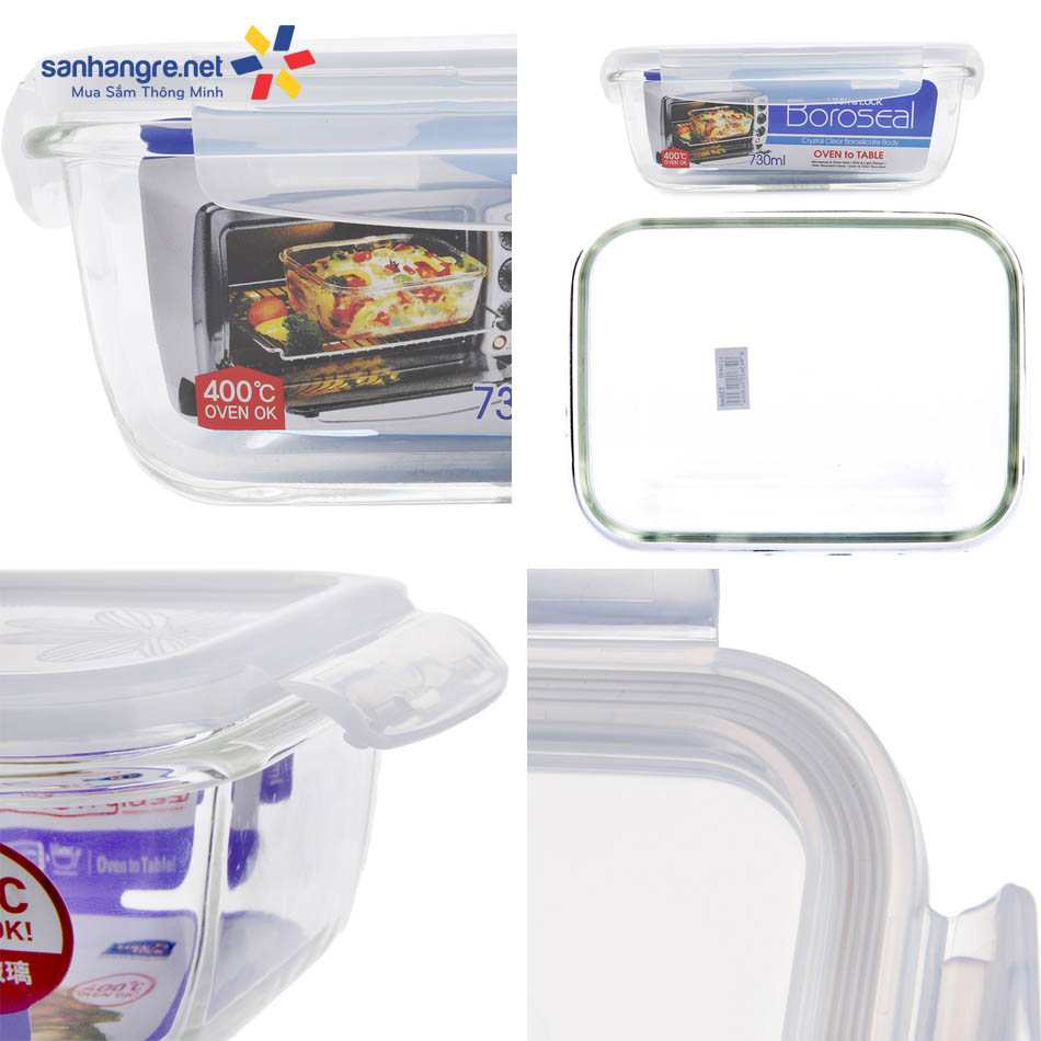 Bộ 5 món thủy tinh chịu nhiệt Lock&lock Samsung - LLG430S5DA