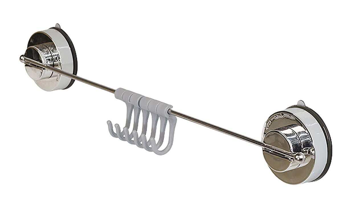 Thanh treo Inox 41cm và 5 móc hít tường Lock&lock MUH400-SS60-1