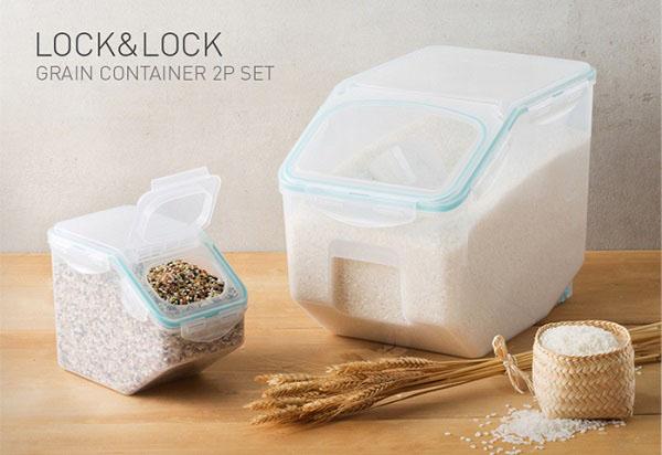 Bộ 2 thùng đựng gạo có bánh e HPL510S2