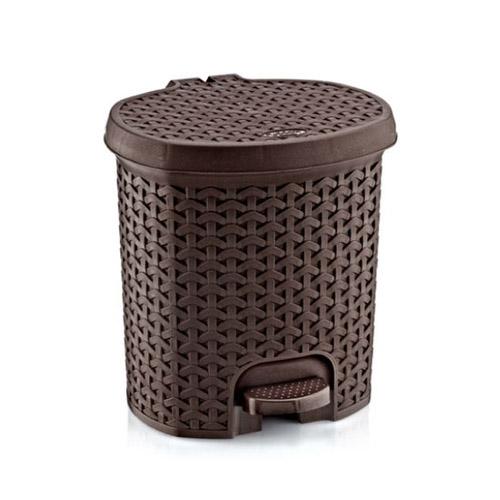 Giỏ đựng rác Harvey Life Lock&lock 3L có đạp chân THB312BR màu nâu