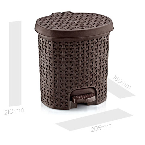 Giỏ đựng rác Harvey Life Lock&lock 3L có đạp chân THB312IV màu ngà
