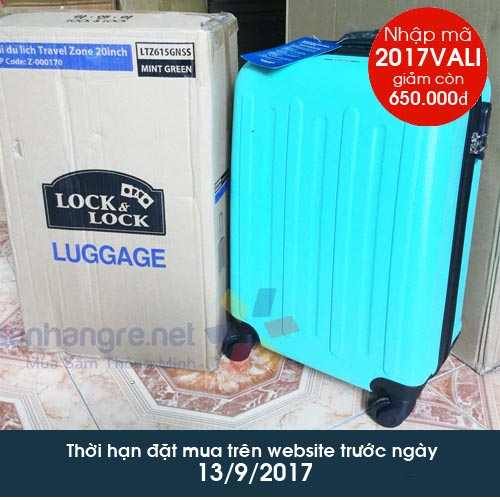 Vali du lịch Lock&Lock Travel Zone 20 inch