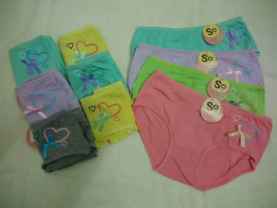 Bộ 5 quần lót nữ cotton hình nơ Mps100751