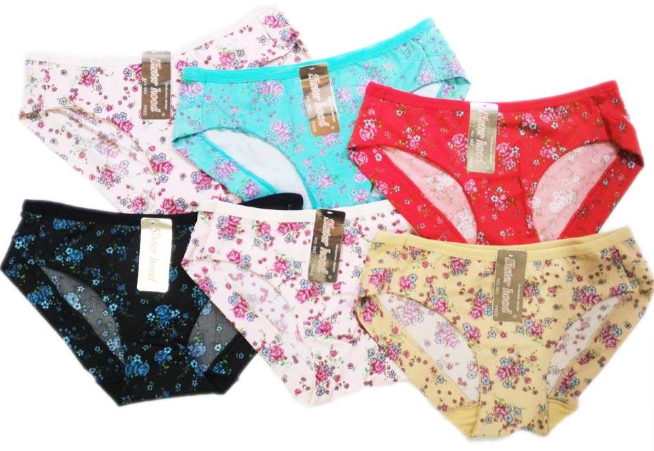 bộ 6 quần lót nữ Thái lan cotton lạnh phối hoa sh633