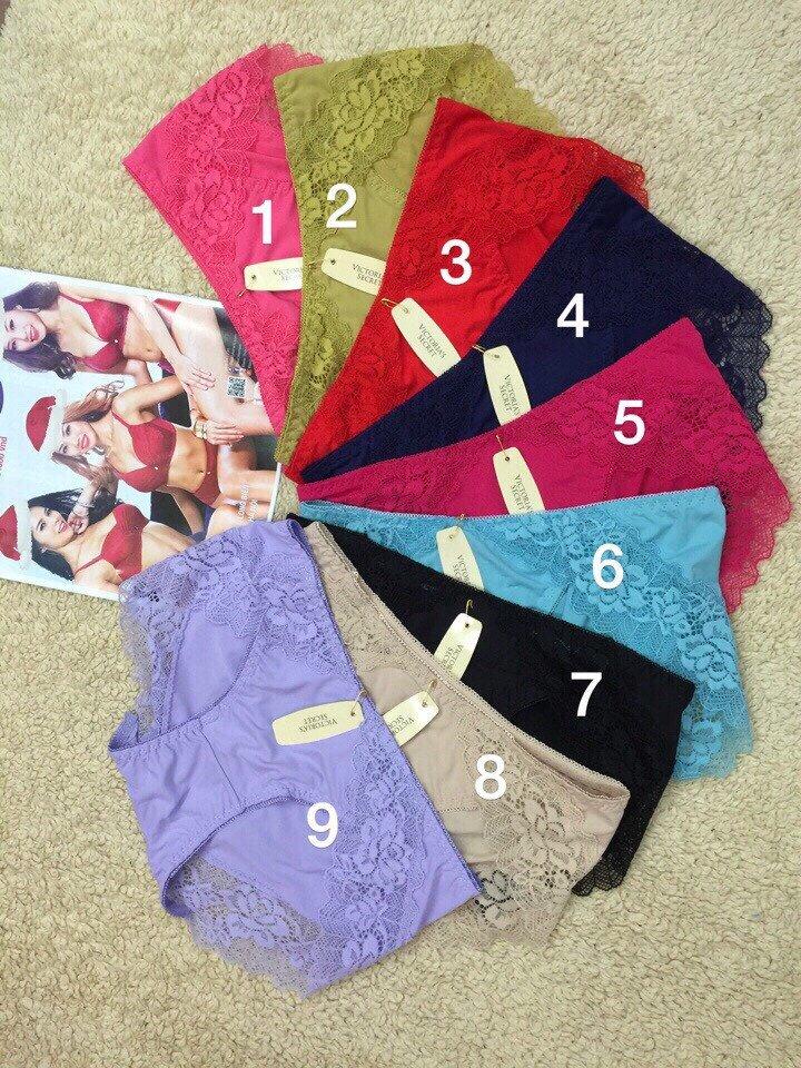 Bộ 10 quần Victoria thun lạnh phối ren Sexy VS0156