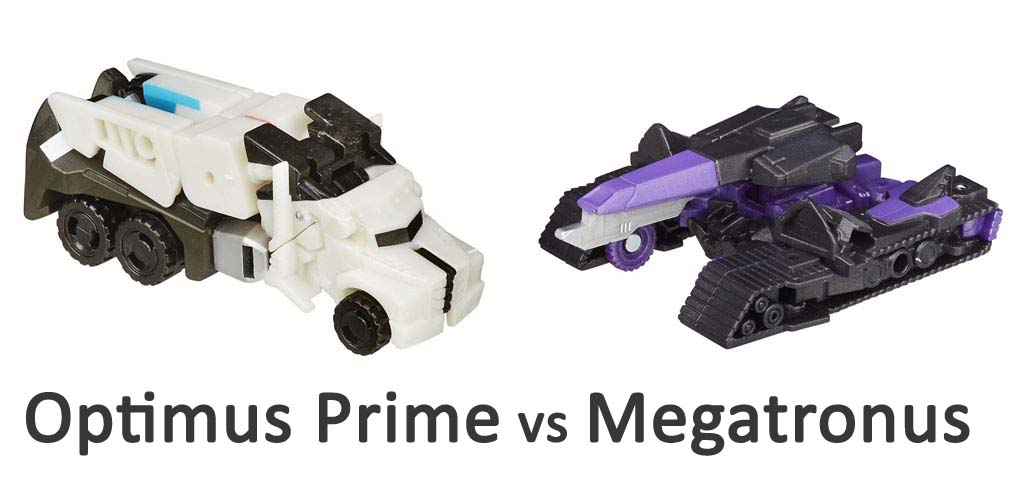 Bộ đôi Robot Transformers biến hình Optimus Prime vs Megatronus - Robots in Disguise
