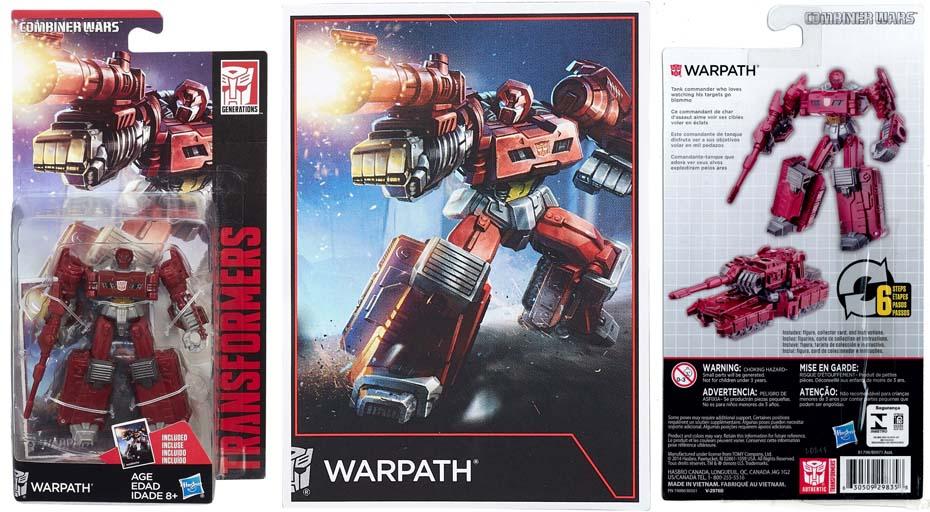 Đồ chơi Robot Transformers biến hình xe tăng Warpath - Combiner Wars
