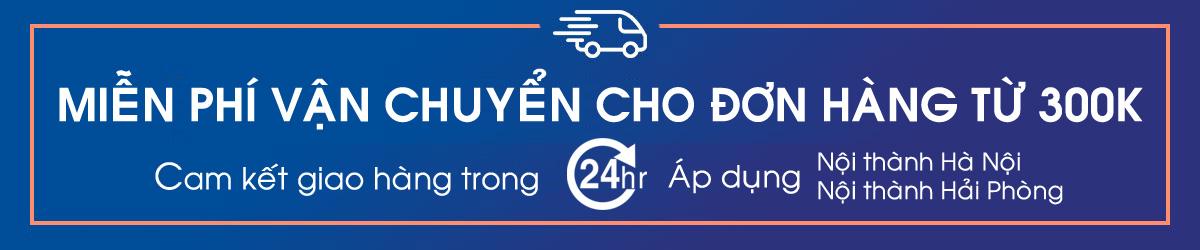 Miễn phí vận chuyển Nội thành Hà Nội cho đơn hàng từ 300k