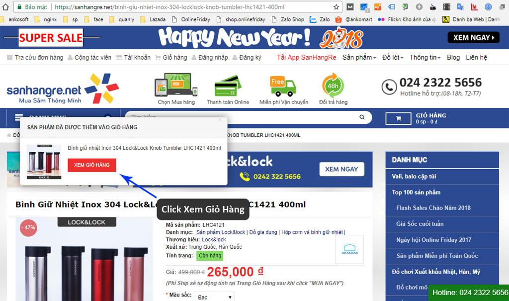 hướng dẫn mua hàng tại sanhangre.net