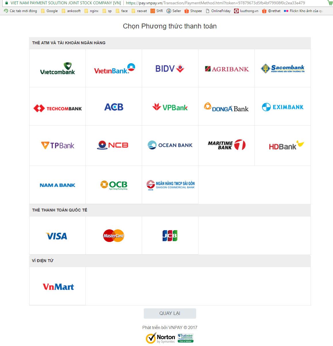 Thanh toán Online VNPAY