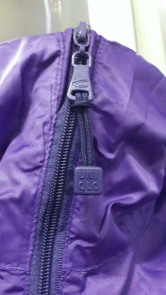 áo gió một lớp màu tím