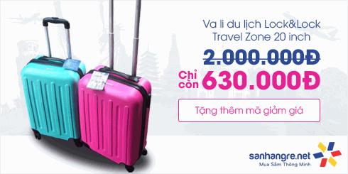 Mã giảm giá Vali Travel Zone 20inch