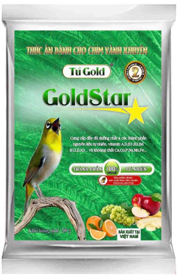 Cám chim Gold Star đỗ xanh