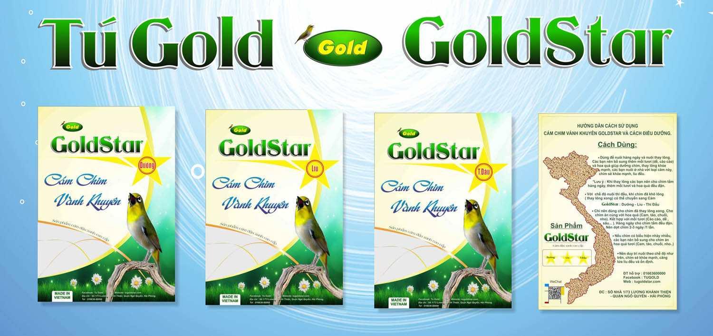 Cám chim vành khuyên Gold Star - Dưỡng gói 200gram