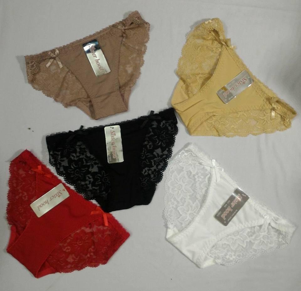 Bộ 5 quần lót nữ thái lan ren mông SH488