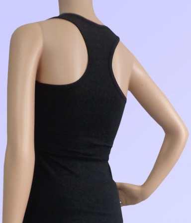 Áo yoga ba lỗ màu đen