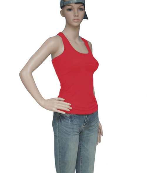 Áo yoga ba lỗ màu đỏ