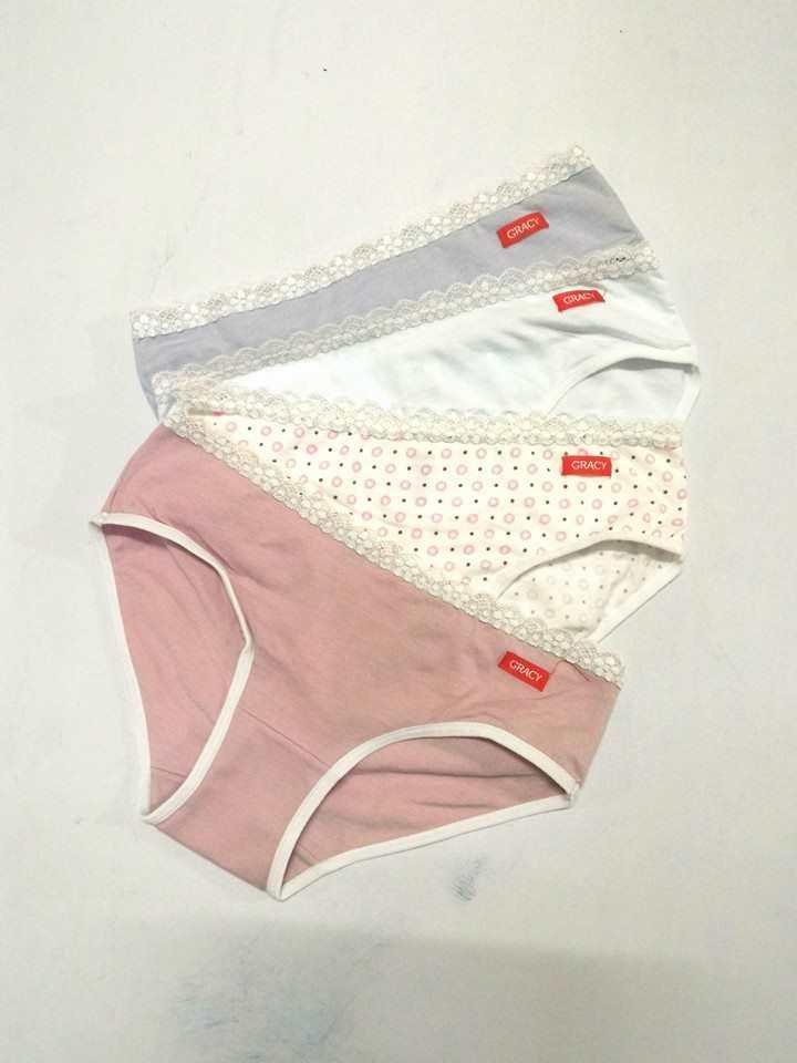 Bộ 4 quần lót nữ bé gái lưng ren mềm mại