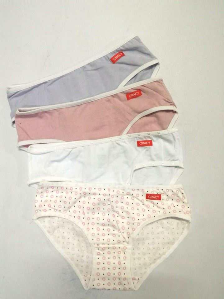 Bộ 4 quần lót nữ bé gái lưng thẳng