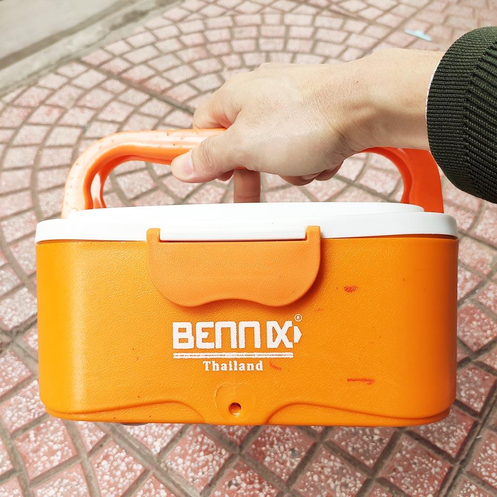 Hộp cơm hâm nóng ruột Inox 304 cắm điện Bennix Thái Lan BN-88I bảo hành 24 tháng kèm túi xách màu xanh