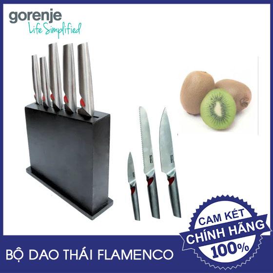 Bộ dao Inox 2CR13 cao cấp tay đỏ Gorenje Flamenco FSKBS01 hàng chính hãng