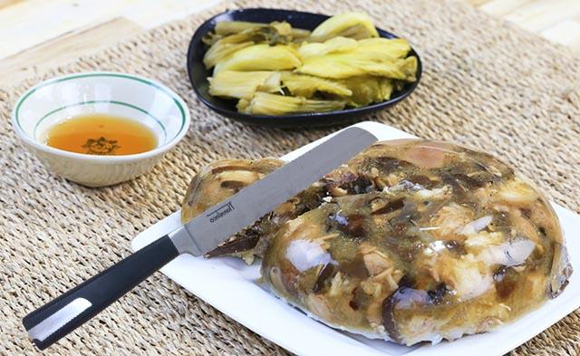 Dao răng cưa cắt bánh mỳ, thịt đông lạnh Inox Flamenco 34cm FSKBS07