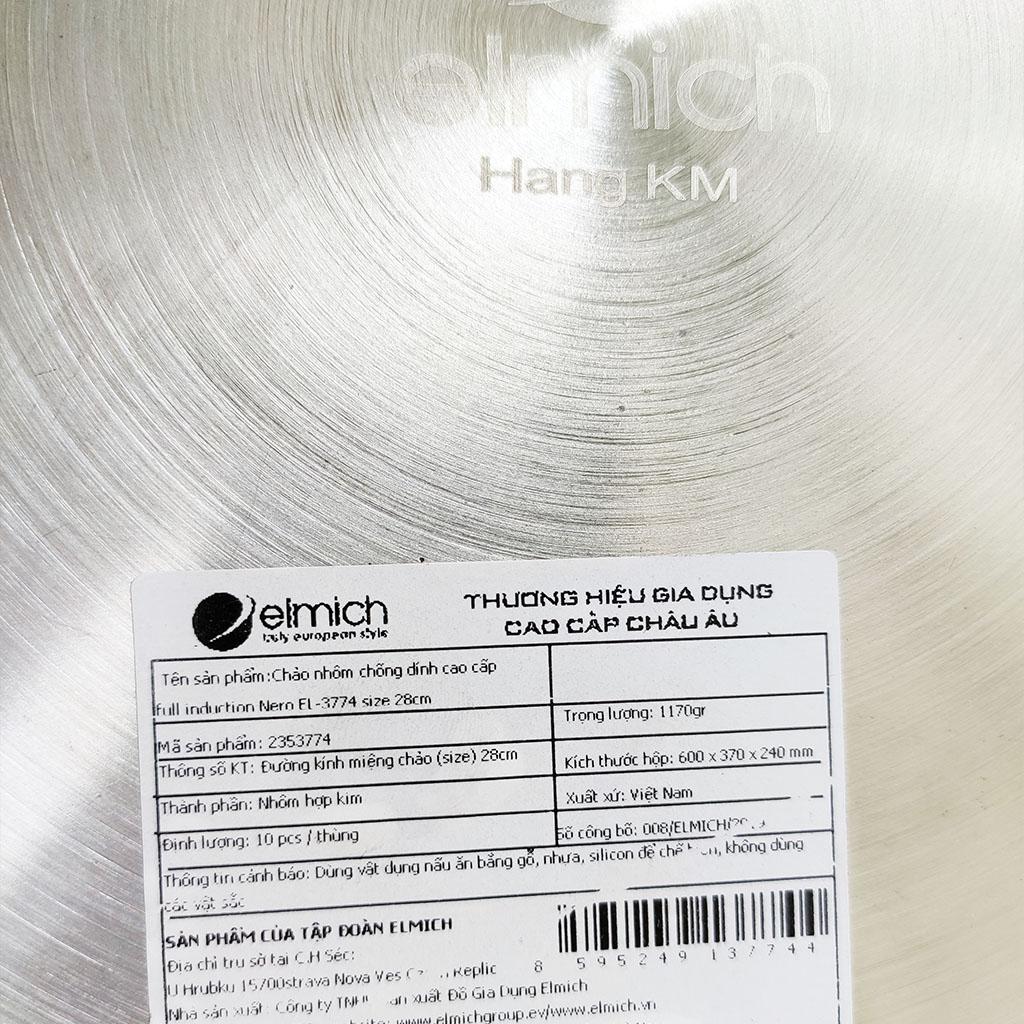 Chảo nhôm chống dính cao cấp đáy từ Full Induction Elmich Nero Premium