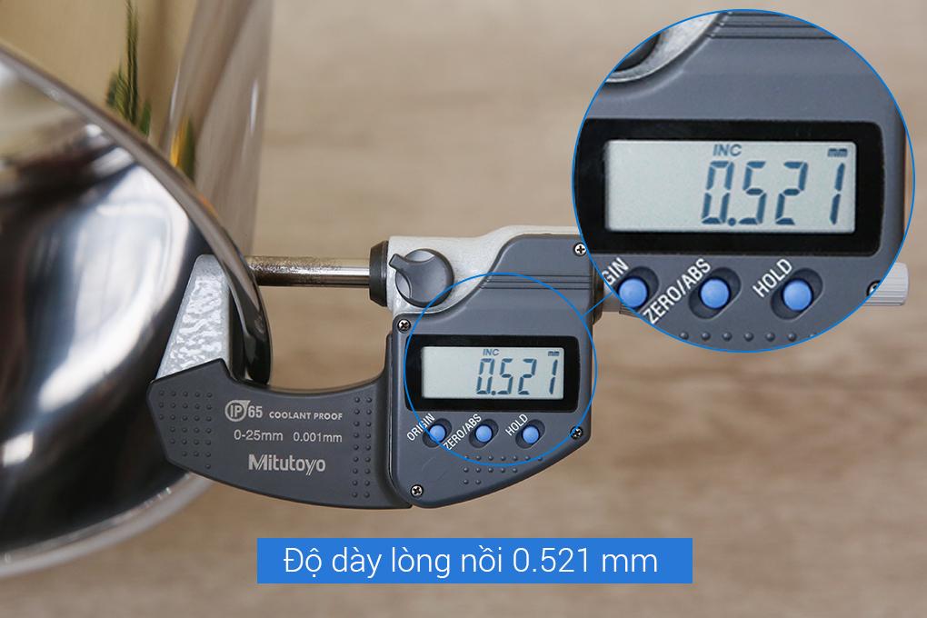 Nồi inox 3 đáy 24cm Fivestar Plus FSN24IN1 nắp kính - Hàng chính hãng, bảo hành 5 năm