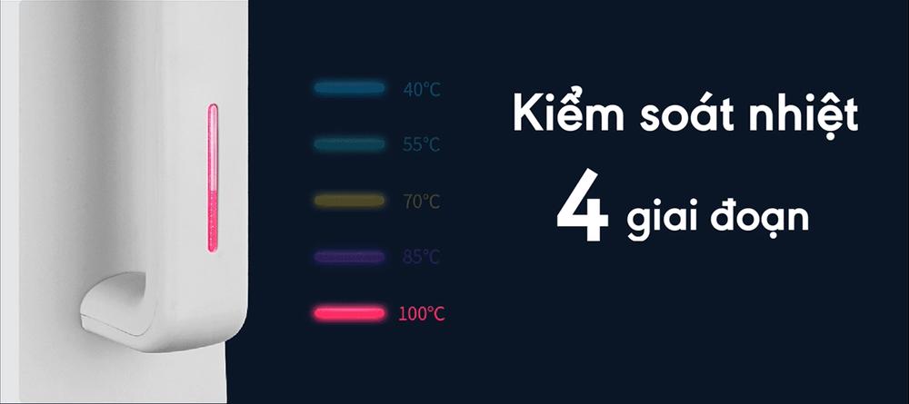 Ấm siêu tốc điều chỉnh nhiệt độ thông minh Goldsun GKT2642 dung tích 1.7 Lít