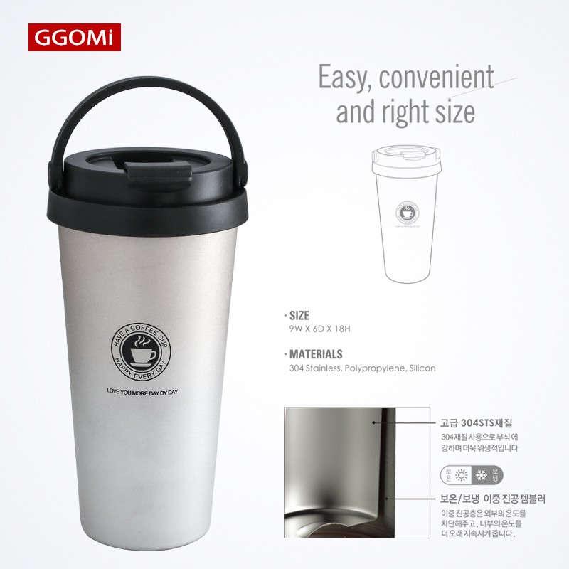 Ly giữ nhiệt Inox 304 GGOMI Hàn Quốc Clip Tumbler GG735 dung tích 520ml