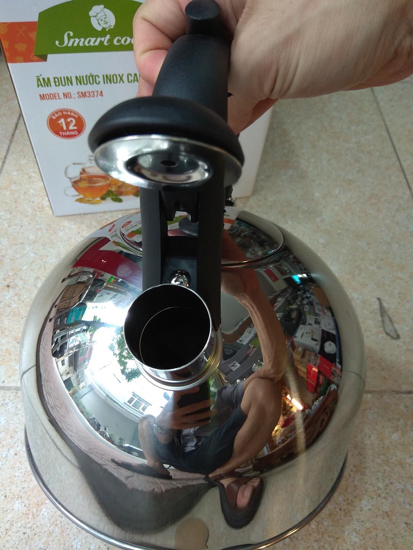 Ấm Đun Nước Inox 304 Elmich Smartcook 2.5L SM3374 Dùng Bếp Từ