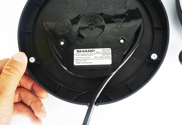 Bình điện đun siêu tốc Sharp EKJ-17VSD-ST dung tích 1.7L hàng chính hãng, bảo hành 12 tháng
