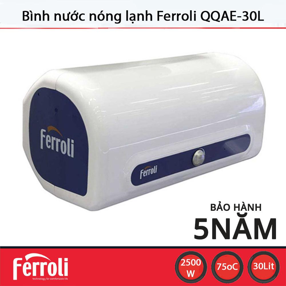 Bình nước nóng lạnh Ferroli QQAE 30L - Hàng chính hãng, bảo hành 60 tháng