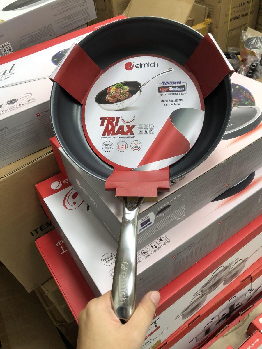 Chảo chống dính cao cấp Inox 304 liền khối Elmich Tri-Max EL-3740 28cm