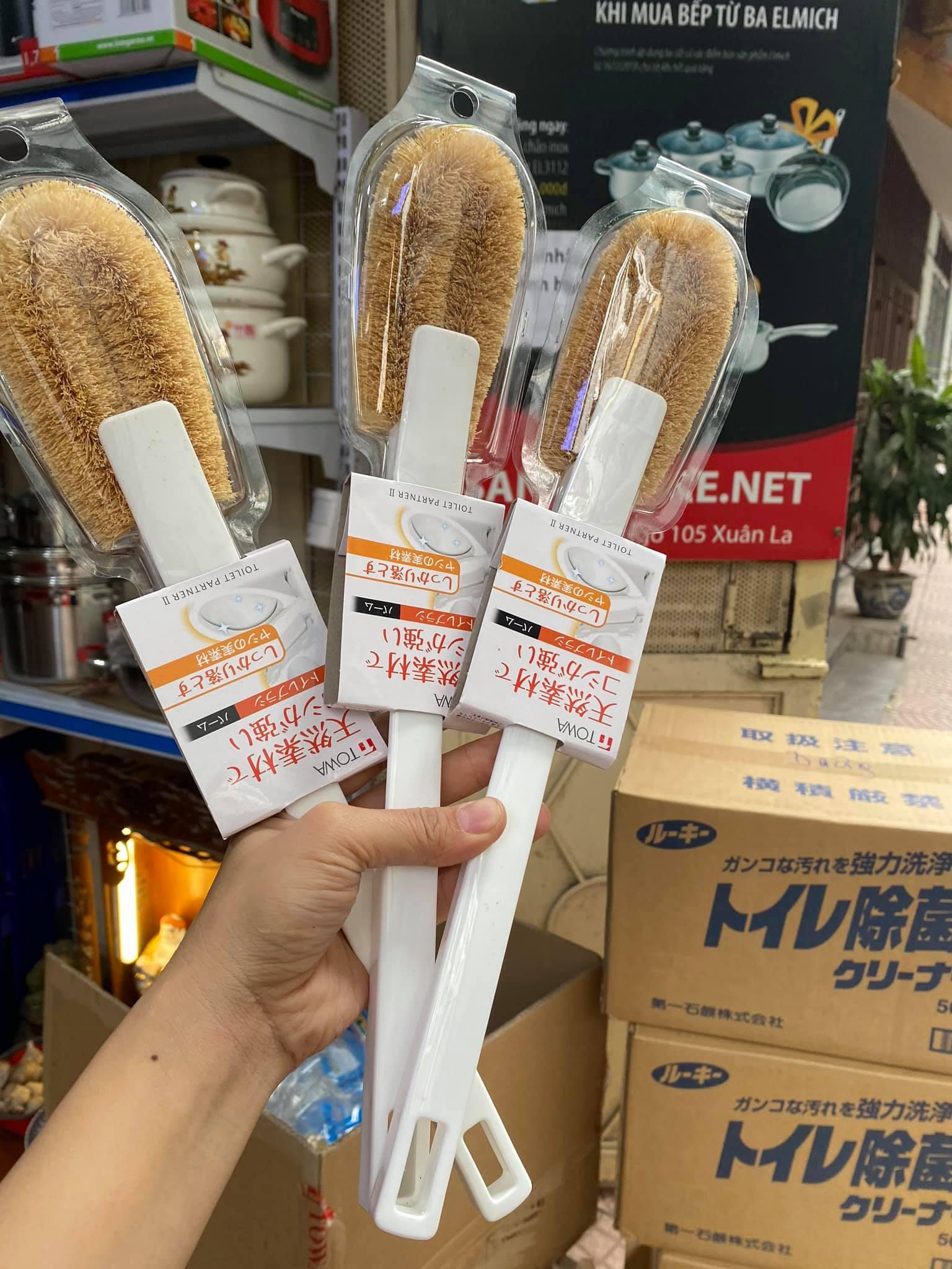 Chổi cọ toilet làm từ xơ dừa Hàng Towa Nhật Bản sản xuất Việt Nam
