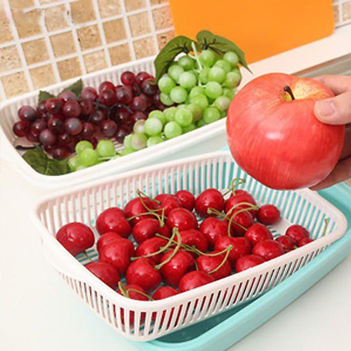 Giỏ đựng hoa quả kèm khay Nakaya Japan Hàng Nhật NK-6813