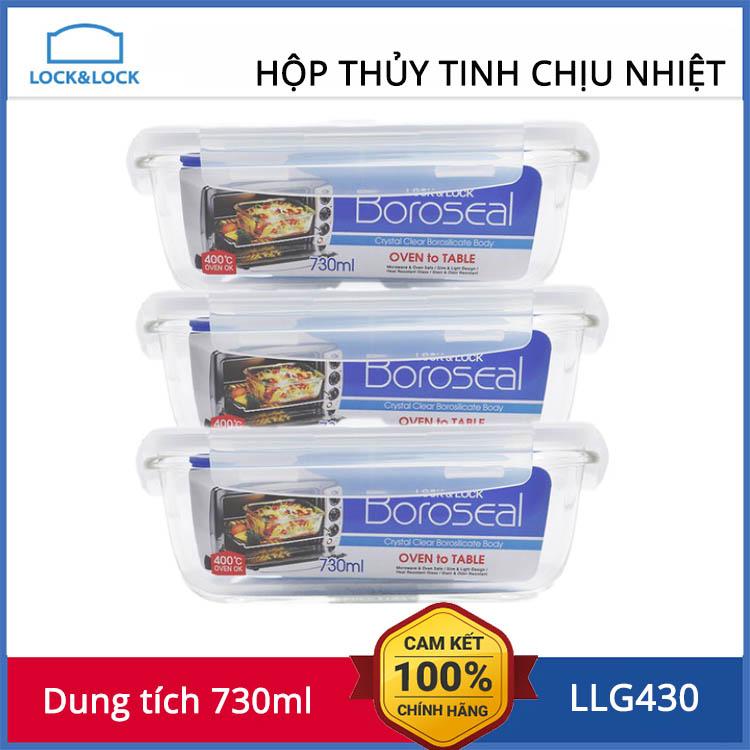 Hộp thuỷ tinh 730ml Lock&Lock Boroseal LLG430 - 119,000 | SanHangRe.net