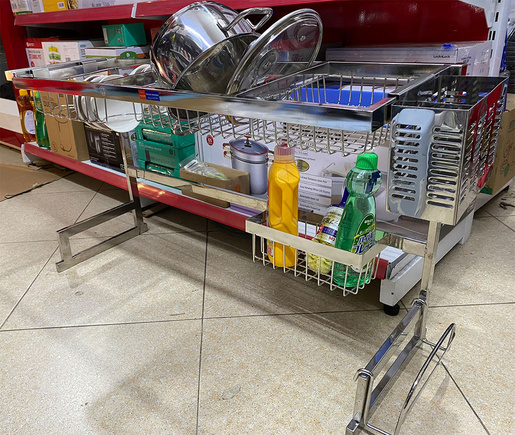 Giá bát Inox 304 đa năng đặt bồn rửa bát Lyncen LC-GBDN hàng xuất Nhật