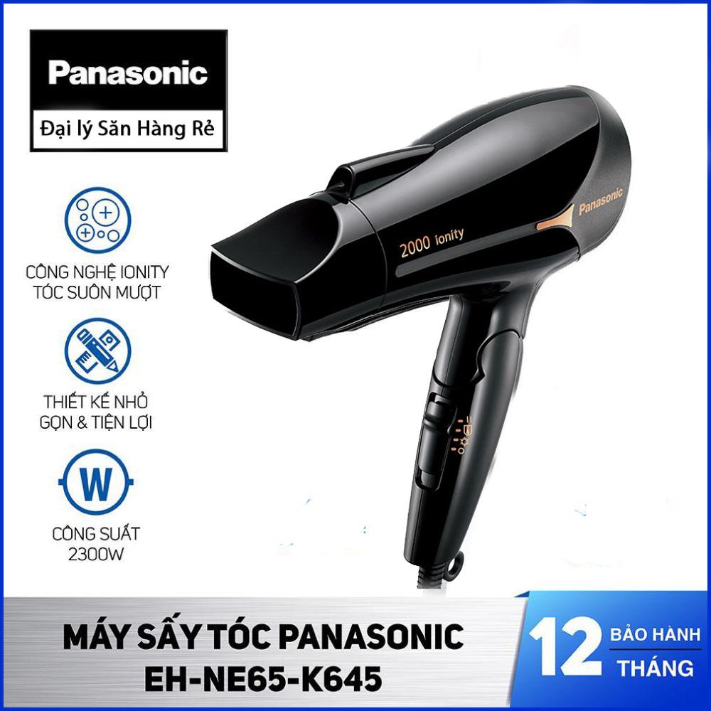 Máy Sấy Tóc Ion Panasonic EH-NE65-K645 (Đen) chính hãng, bảo hành 12 tháng tặng kèm 1 hộp kem ủ tóc