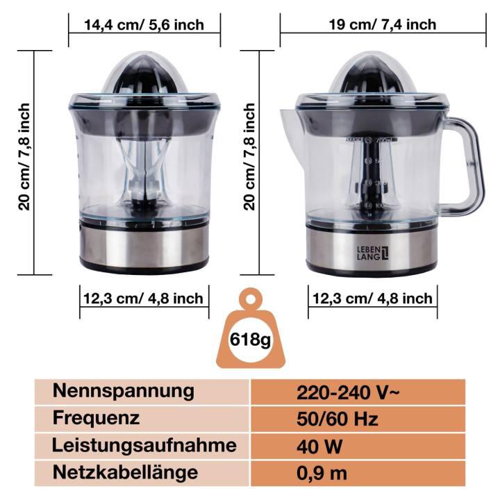 Máy vắt cam 700ml Lebenlang LB389 thương hiệu  Đức